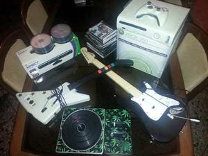 Xbox gb + Kinect + 150 Juegos + Guitarras Y Accesorios