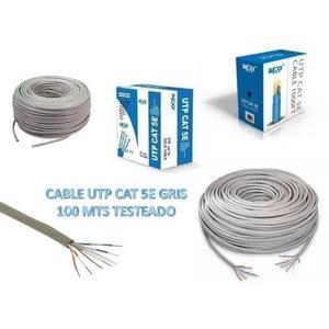Cable Utp Cat 5e 100 Metros Marca Imexx Testeado Bagc