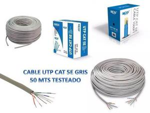 Cable Utp Cat 5e 50 Metros Marca Imexx Testeado Nuevo Bagc