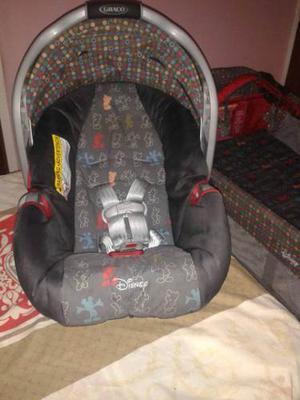 Porta-bebe+silla De Carro Marca Graco De Mickey Mouse Disney