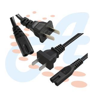 Cable De Corriente 2 Pines Para Cargador Laptop Ps3 Radio Tv