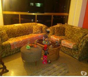 vendo muebles 2 sofas de sala, con tela china con mesa