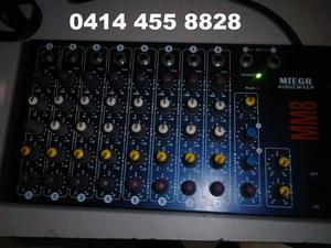 Consola Mixer Mezclador 8 Canales Con Efectos Marca Miegr