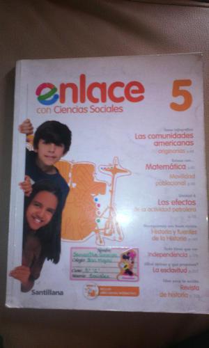 Libro Enlace 5 Ciencias Sociales