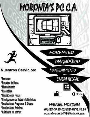 Servicio Técnico Municipio San Diego: Formateo De Pc Y Mas
