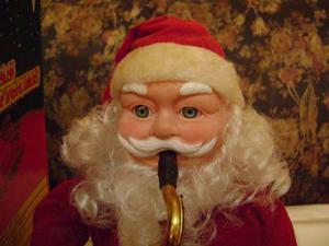 Adorno De Navidad San Nicolas Musical A Baterias