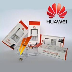 Cargador Blanco 2 En 1 Huawei P6 P7 P8 G510 Y300 Y320 Y511