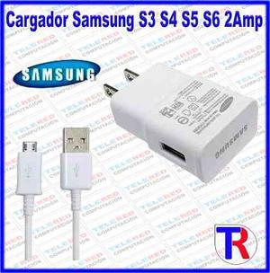 Cargador Samsung Galaxy S3 S4 S5 S6 2amp Con Cable Oferta!
