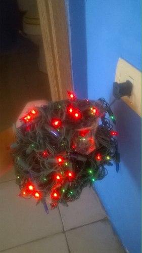 Juego De Luces Intermitentes De Navidad Y Maya Decorativa.