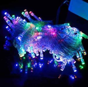 Luces Led De Navidad Multicolores 100 Bombillos 10 Metros