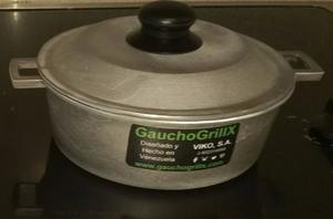 Caldero Aluminio Fundido Con Tapa 20 Cm Gauchogrillx