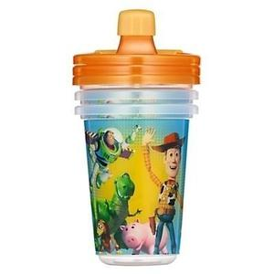 Combo 3 Vasos Anti Derrame Cars Y Toy Story