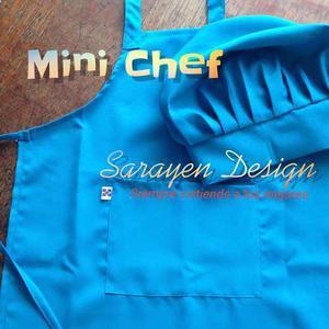 Delantales Y Gorros Para Niños Mini Chef