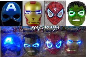 Mascara Avenger Hulk Iron Man Spiderman Cap America Luces