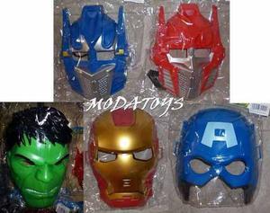 Mascara Avenger Hulk Iron Man Spiderman Cap America Robots