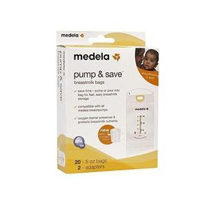 Medela 20 Bolsas Para Leche Materna C/adaptador/extractores
