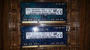 Memoria Sodimm Hynix 1rx8 Pc3l s Ddr3l 8gb 2 X4gb