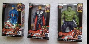 Muñeco Juguete Avengers Iron Man Capitan America Thor Hulk