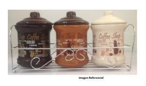 Potes De Cocina De Ceramica Con Tapa Y Base