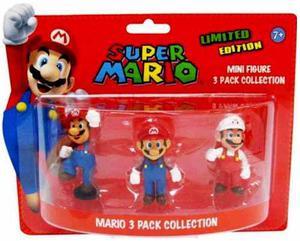 Set 3 Pack Figuras De Mario Bros Blister
