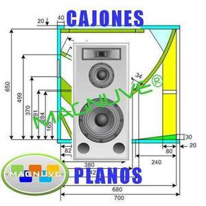 Kit Planos Cajones Minitecas Cerwin Vega Turbo Sound Rcf