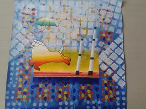obra de arte del pintor Yobel Parra año x60 acrilico
