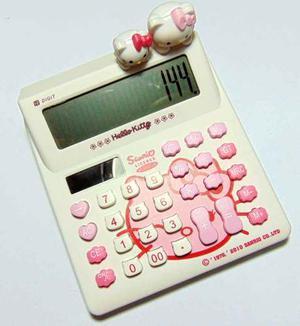 Calculadora 12 Dígitos Hello Kitty De Pila Y Solar