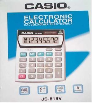 Calculadora De Mesa 8 Digitos Js-818v