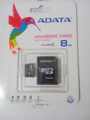 Memoria Adata Micro Sd 8 Gb Clase 4 Celulares Tablets Gps