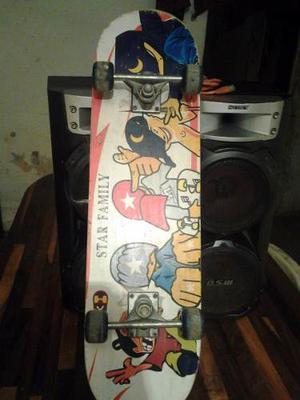 Patineta Skate Largo 70cm Ruedas De Silicone Remate Usado