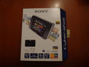 Cámara Digital Sony T2 8.1 Mega Pixel Color Negro