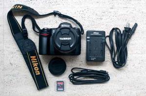 Cámara Nikon D80, Con Lente Lente Tamron Af mm