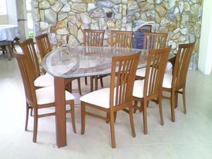 Juejo de comedor de cedro hexagonal de 3 sillas posot class for Comedor hexagonal