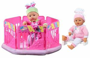 Muñeca My Dolly Sucette Con Parque Para Jugar Baby