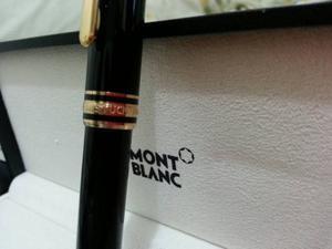 Bolígrafo Mont Blanc Modelo Meisterstuck Con Su Estuche,