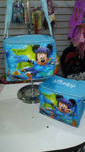 Lonchera Termica Mickey Mouse Hello Kitty Cars +envases