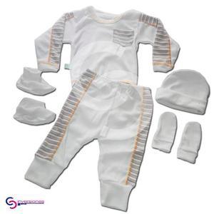 Pijamas Para Bebes Monos Gorro 5 Piezas Rayas
