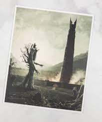 Arte Impreso Del Señor De Los Anillos Exclusivo De