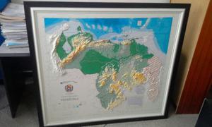 Mapa Físico De Venezuela En Relieve Enmarcado