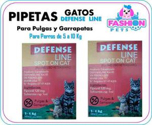 Pipetas Defense Line Para Gatos 1 A 4 Kg