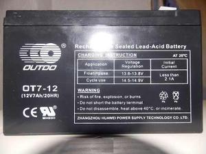 Bateria 12v 7amp Recargable Ups Cerco Electrico Alarmas