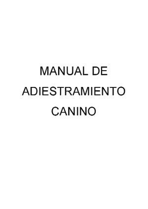 Manual De Adiestramiento Canino En Formato Digital Pdf