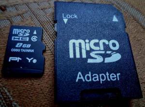 Memoria Micro Sd De 8 Gb + Adaptador Oferta