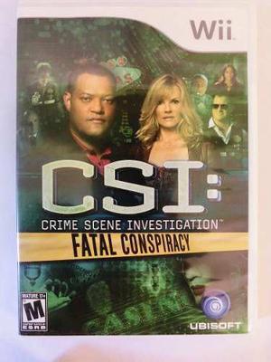 Videojuego Original Para Nintendo Wii: Csi Fatal Conspiracy