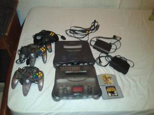 2 Nintendo 64 + 3 Controles + Sus Cables + 2 Juegos + Memory