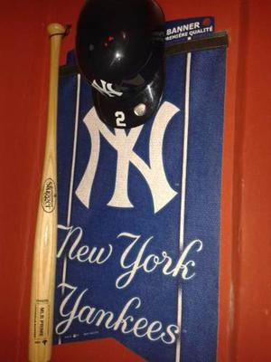Banner + Casco New York Yankees + Bate Mlb.decorativo.import