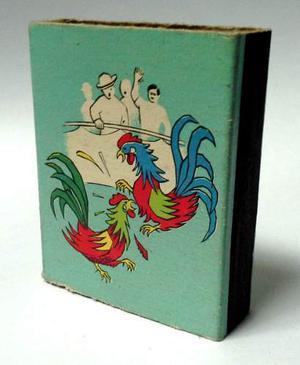 Coleccionable Caja De Fósforos Vintage Vacía Pelea De