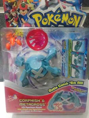 Figuras Pokemon Metagross Y Corphish Original Hasbro