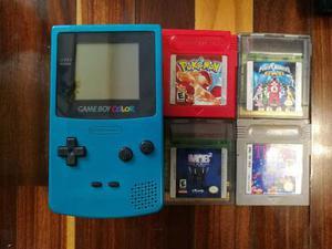 Game Boy Color + 6 Juegos + Linterna