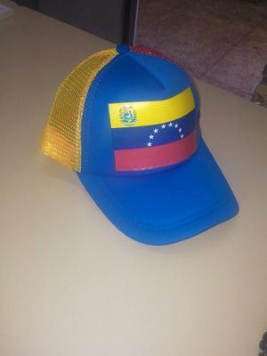 Gorra De Malla Tricolor Venezuela